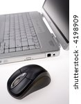laptop computer and mouse | Shutterstock . vector #4198909