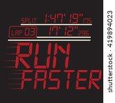 running sport faster typography ... | Shutterstock . vector #419894023