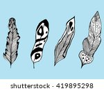 feathers of birds. charm.... | Shutterstock .eps vector #419895298