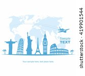 travel and tourism background | Shutterstock .eps vector #419901544