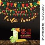 festa junina  june party ... | Shutterstock .eps vector #419906590