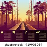 oil the pipeline in the forest | Shutterstock .eps vector #419908084
