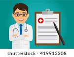 doctor occupation character... | Shutterstock .eps vector #419912308