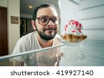 Funny Man Sees The Sweet Cake...