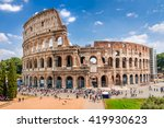 Colosseum With Clear Blue Sky...