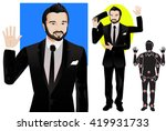 for animation. man character in ... | Shutterstock .eps vector #419931733