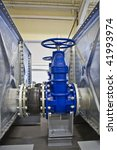 Water Valves and tanks - stock photo