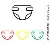 web line icon. baby diaper ... | Shutterstock .eps vector #419946178
