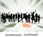 illustration of people jumping | Shutterstock .eps vector #41995459