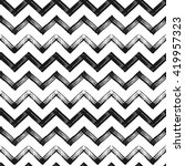 zigzag chevron grunge black... | Shutterstock .eps vector #419957323
