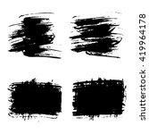vector set of grunge brush... | Shutterstock .eps vector #419964178