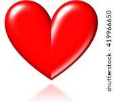 3d Red Heart
