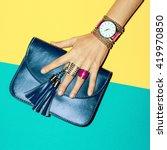 bright summer fashion... | Shutterstock . vector #419970850