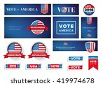 usa presidential election set... | Shutterstock .eps vector #419974678