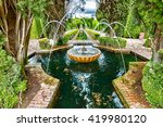 Close Up Of Fountain In The...