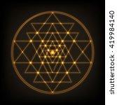 sri yantra   symbol of hindu...