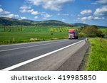 rural landscape with asphalt... | Shutterstock . vector #419985850