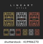 set of design elements.  labels ... | Shutterstock .eps vector #419986270