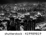 Small photo of Fine art photography of Hong Kong city in contrast black and white edition