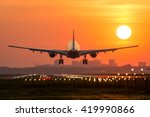 passenger plane is landing... | Shutterstock . vector #419990866