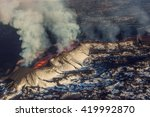 Aerial View Of Erupting Volcan...