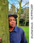 african american male standing...   Shutterstock . vector #419994289