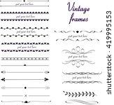 vintage vector frames | Shutterstock .eps vector #419995153