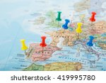 europe map pins travel for your ...