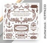 set of vintage decorations... | Shutterstock .eps vector #419996233