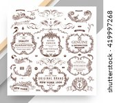 set of vintage decorations... | Shutterstock .eps vector #419997268