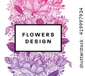 floral graphic design. spring...   Shutterstock .eps vector #419997934