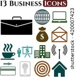 13 businessicon set. quality... | Shutterstock .eps vector #420007423