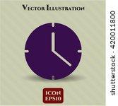 clock  time  vector icon | Shutterstock .eps vector #420011800