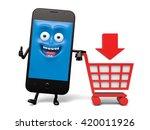 a shopping cart | Shutterstock . vector #420011926