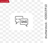 sms sign icon   Shutterstock .eps vector #420015910