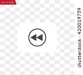 rewind  vector icon | Shutterstock .eps vector #420019759