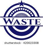 waste jean or denim emblem or... | Shutterstock .eps vector #420023308