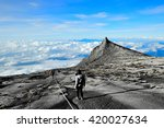 kinabalu mountain in kinabalu... | Shutterstock . vector #420027634
