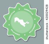 uzbekistan map sticker in... | Shutterstock .eps vector #420029428