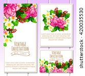 invitation with floral... | Shutterstock . vector #420035530