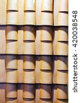 detail of roof tiles on... | Shutterstock . vector #420038548