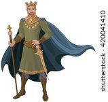 illustration of majestic king | Shutterstock .eps vector #420041410
