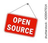 open source software concept....   Shutterstock .eps vector #420047014