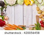 frame of assorted healthy fresh ...