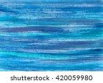 blue sea watercolor background. ... | Shutterstock . vector #420059980