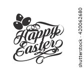 happy easter nature background... | Shutterstock .eps vector #420062680
