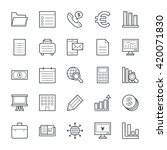 business cool vector icons 3 | Shutterstock .eps vector #420071830