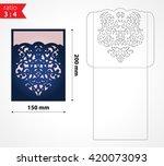vector laser cut wedding...   Shutterstock .eps vector #420073093