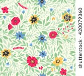 seamless pattern with flowers.... | Shutterstock .eps vector #420079360