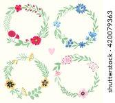 set of vintage frames and... | Shutterstock .eps vector #420079363